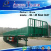 3 Axle 50 Ton 60ton Side Board Semitrailer, Side Boards Flatbed Semi Trailer, Flatbed with Side Wall, Open Side Board Cargo Semi Trailer, Side Wall Semi Trailer