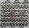 3D Silver Stainless Steel Made Hexagon Shape Star Like Mosaic Tile (CFM1002)