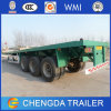 3 Axle 40ton Flatbed Semi Trailer, Container Trailer