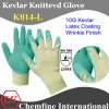 10g Kevlar Knitted Glove with Latex Wrinkle Coated Palm/ En388: 2344