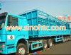 4 axles semi trailer, Bulk cargo Container Trailer