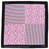 OEM Produce Customized Striped Pink Logo Printed Cotton Head Wrap Bandanna Scarf