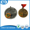 Engraved Logo Soft Enamel Medal with Gold Silver Bronze Plating