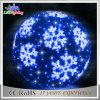 Blue Garland Snowflake LED Light Motif Decoration Ornament Ball