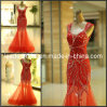 New Cap Sleeves Evening Dress Beaded See Through Mermaid Prom Party Dress Formal Gown E13904