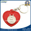 Promotion 2D Metal Logo Metal Key Ring Leather Key Chain
