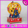 2015 Exquisite Gift Happy Wooden Music Box, Ferries Wheel Deisgn Music Box for Sale, Creative Christmas Wooden Music Toy W07b015A