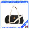 Black Canvas Carry on Duffel Bag for Sports