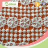 POM POM Lace Spider Web Pattern Cotton Chemical Lace Fabric