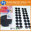 Nylon Black Round DOT Adhesive Hook & Loop