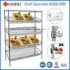 Commercial Used 4 Layers Adjustable Steel Vegetable Display Rack