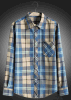 Men Plaid Long Sleeve Leisure Shirt
