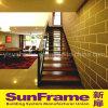 Aluminium Wooden Texture Balustrade Use in Restaurant