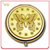 Lady's Gift Custom Embossed Gold Plated Metal Gift Mirror