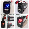 Car 2.1A USB Charger Socket + Voltmeter for Toyota Vigo Car USB