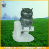 Natural Stone Owl Carving