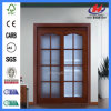 Frosted Glass Interna Hardwood Wooden Blinds for French Doors