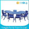 Kindergarten Furniture Educational Equipment Plastic Moon Table and Chair