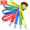 Promotional Custom Logo Neck Nylon Sublimation Heated Transfer Printing Polyester Lanyard with ID ...