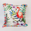 Hot Competitve Digital Printed 45X45cm Tropical Flamigo Square Cushion