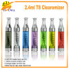 2013 Super E Cigarette Fancy Colorful Tube in Itlay and Malaysia France, Clearomiser T2, Tanks T2