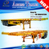 3 Axles Flatbed /Skeletal 40′ Container Semi Trailer Price