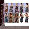 High Quality Summer Fashion Party Sleeveless Printed Ladies Dress (TXY2221)