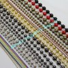 Colorful Variety Sizes Metal Crafts Decorative Beaded Ball Chains