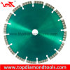 Laser Welded Diamond Blade with Turbo Type Segments for Cutting Granite and Concrete