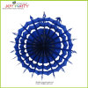 Royal Blue Snowflake Hanging Paper Fans