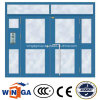 Biggest Size Opening Security Entrance Steel Glass Door (W-GD-34)