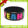 Custom Design Adult Silicone Bracelets with Color Filled (TH-band078)