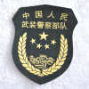 Military Custom Logo Embroidery Badge with Hot Melt Adhesive