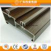 Wood Grain Double Track Aluminium Sliding Door Profile