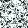 Kingtop 1m Width Skulls and Flame Design Film for Aqua Print Wdf12280