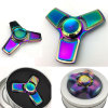 Colorful Fidget Spinner Metal EDC Tri-Bar Hand Spinner Finger Spin Made Focus Toy Rotate Spinning Stress Toy