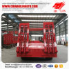 Low Flatbed Semi Trailer for Excavator Transportation