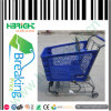 150L Plastic Shopping Cart with Metal Basket for Super Market