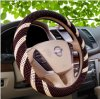 Luxury Wood Bead Car Steering Wheel Cover Sleeve with Pattern