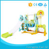 Indoor Playground Mutifunction Iron Pipe Six in One Long Slide and Iron Swing with Basketball Hoop Stand, Football Door Kid Toy Mh Series
