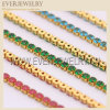 Ss12 3mm Crystal Clear Color Metal Base Rhinestone Cup Chain for DIY