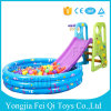 Plastic Indoor Kids Toys Slide with Inflatable Ball Pool Water Pool