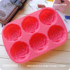 Red Rose Shaped Silicone Food Rubber Cupcake Baking Sheets