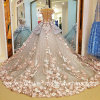 Flowers Bridal Gowns Arabics Flowers Luxury Custom Wedding Dress Y0101