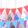 Custom Made Wonderful Durable Fabric Bunting Flag for Decoration