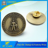 Customized Zinc Alloy 3D Metal Button Badge with Antique Brass Plated (XF-BG17)