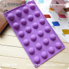 Purple Violet 24 Semicircular Safe DIY Silicone Baking Molds Grease