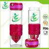 600ml BPA Free Circus Zinger, Glass Lemon Water Bottle