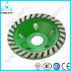 Stone Grinding Aluminum Matrix Continuous Diamond Cup Wheel