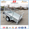 Galvanized 7X4 Tipping Box Trailer with Cage